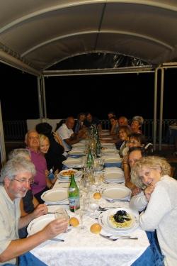 Cena nella terrazza dell'hotel