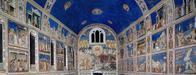 La Cappella degli Scrovegni, con gli affreschi di Giotto