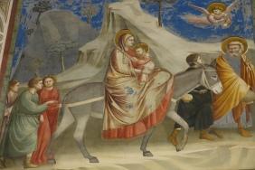 Giotto, Fuga in Egitto. Cappella degli Scrovegni